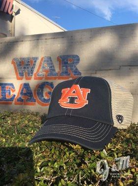 AU in Orange Two Tone Navy / Stone Stitch Mesh Hat