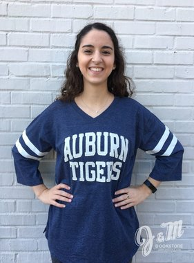 MV Sport Auburn Tigers Embroidered Oversized T-Shirt