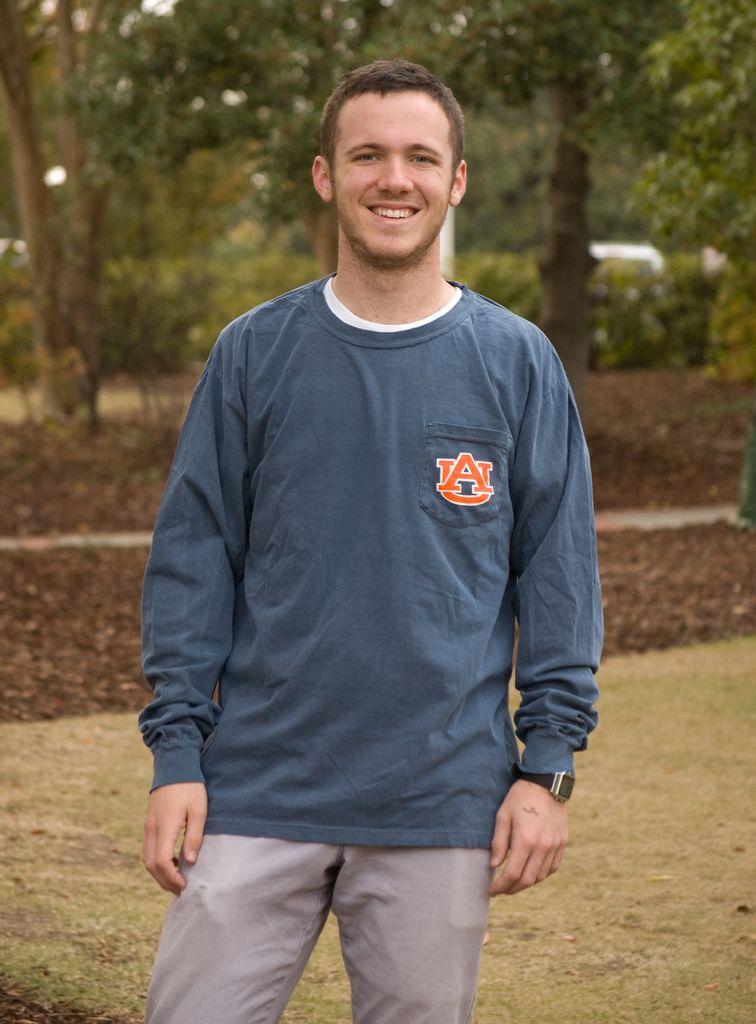 MV Sport Vintage Aubie Head Long Sleeve Pocket T-Shirt