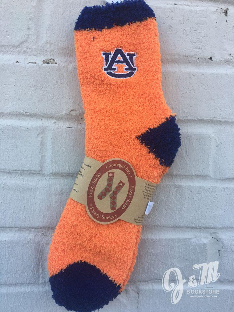 Donegal Bay Auburn Solid Fuzzy Socks