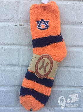 Donegal Bay Auburn Stripe Fuzzy Socks