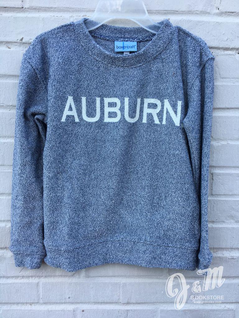 Auburn Denim Youth Cozy Crew