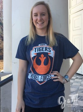 Retro Brand Auburn Tigers Rebel Forces Star Wars T-Shirt