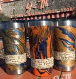 Func. Design Orange and Navy Dipped Mug