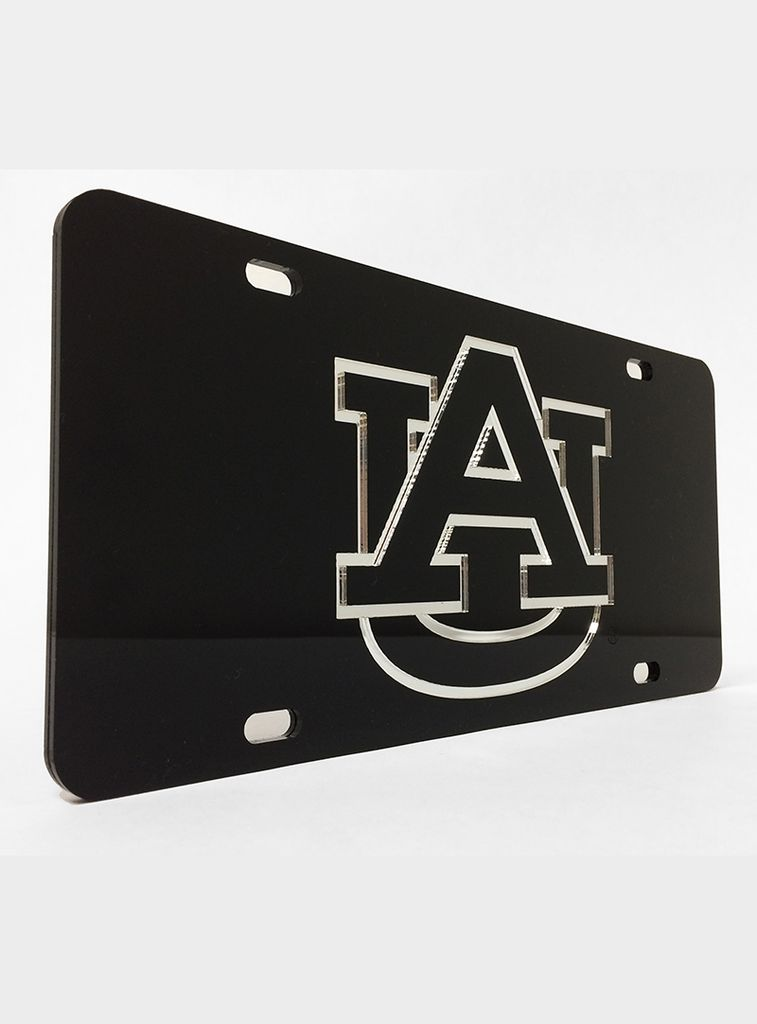 AU Silver Letters in Black Background