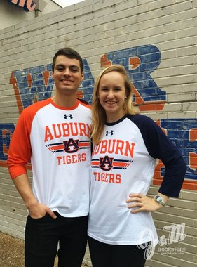 Under Armour Auburn AU Tigers 2 Tone Baseball Long Sleeve T-Shirt