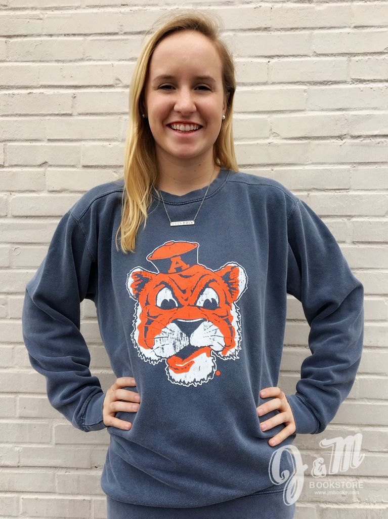MV Sport Vintage Aubie Head Comfort Color Crew