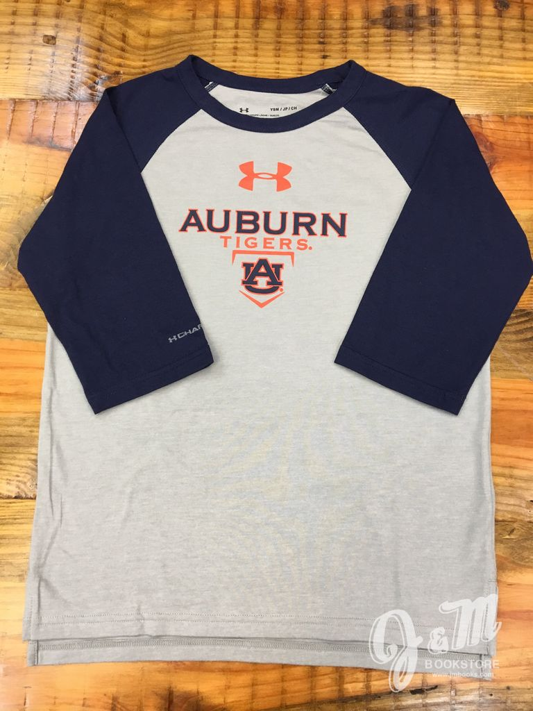 Under Armour Auburn Tigers Homeplate 2 Tone Youth Long Sleeve T-Shirt