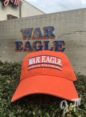 The Game War Eagle Auburn University Bar Hat, Orange