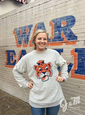 MV Sport Vintage Aubie Head Fleece Crew