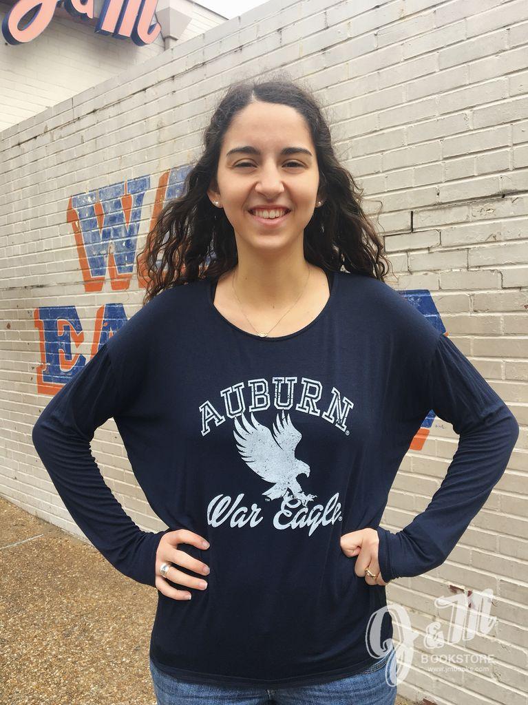 Auburn Eagle War Eagle Ladies Long Sleeve T-Shirt