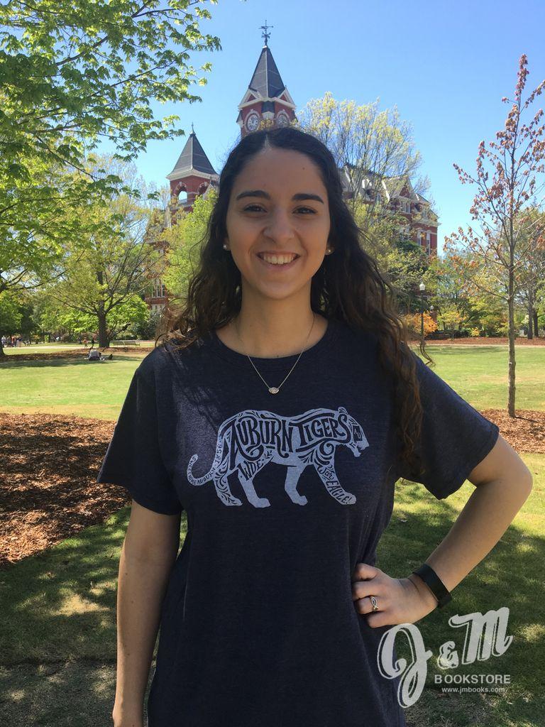 Lauren James Company Prowling Tiger Script T-Shirt