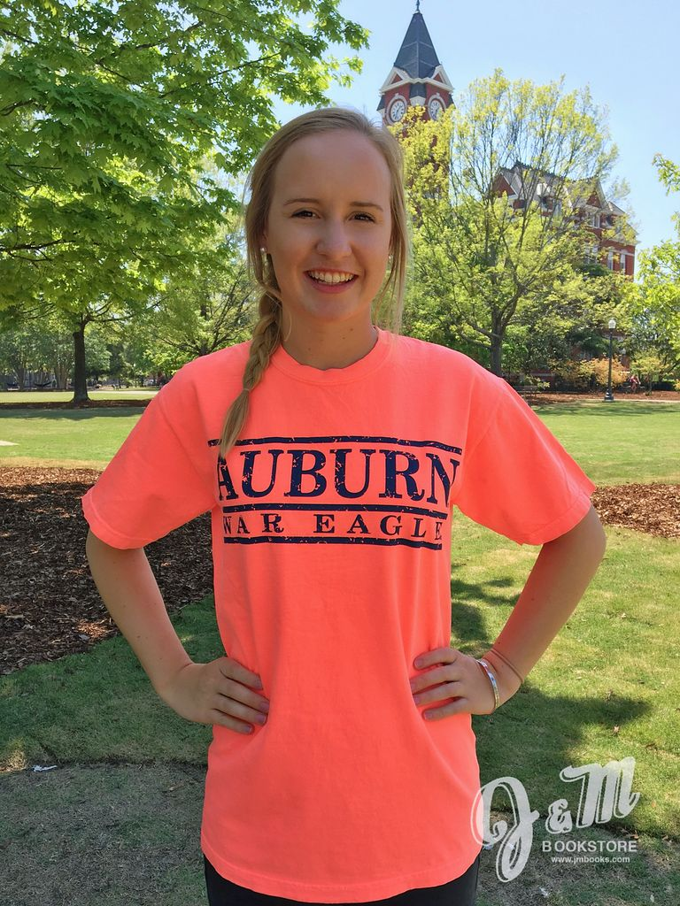 MV Sport Auburn War Eagle Three Bar Design T-Shirt