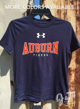 Under Armour Stretch Arch Auburn Tigers Youth T-Shirt
