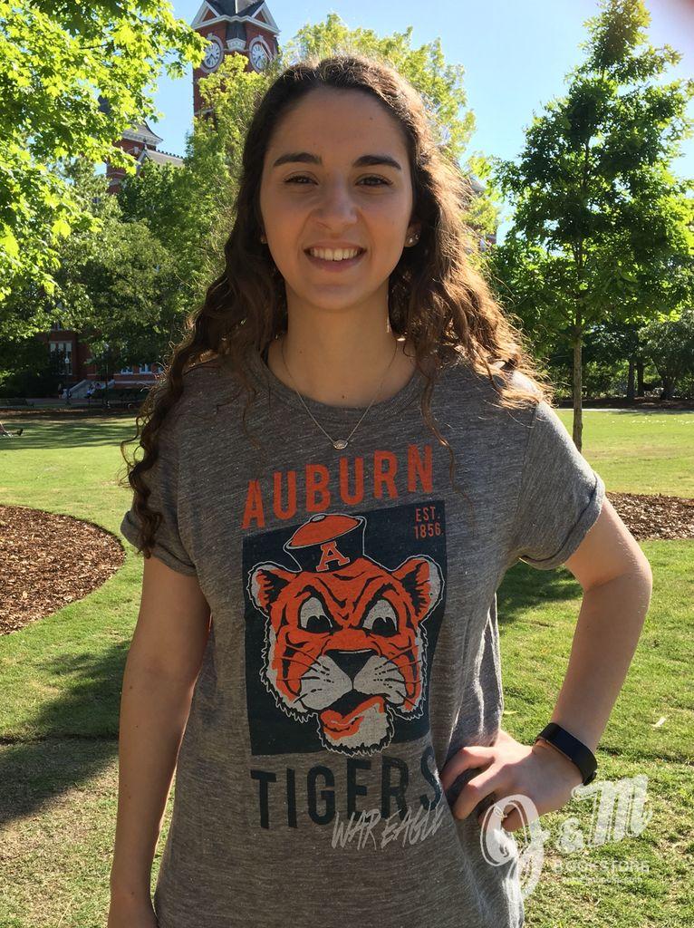 47 Brand Vintage Aubie Auburn Tigers War Eagle Est. 1856 T-Shirt