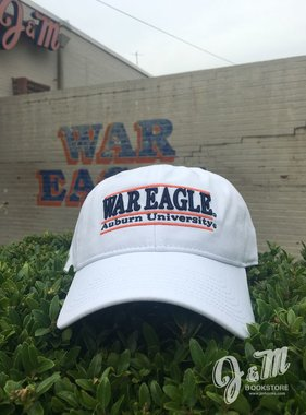 The Game War Eagle Auburn University Three Bar White Hat