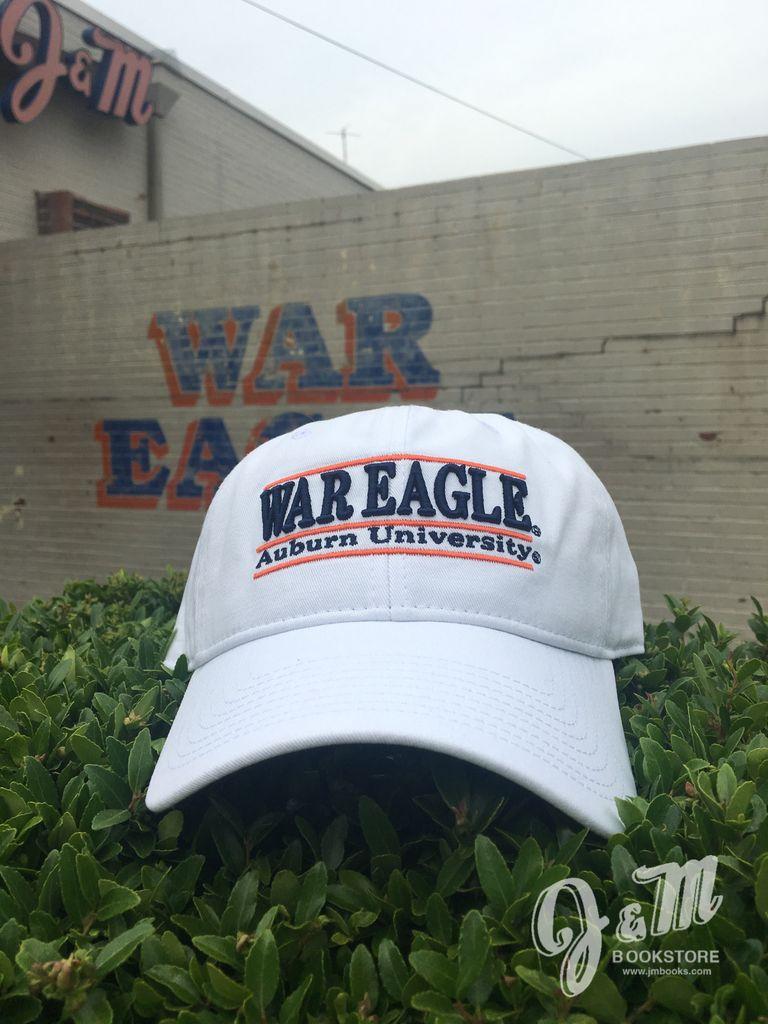 The Game War Eagle Auburn University Three Bar White Hat