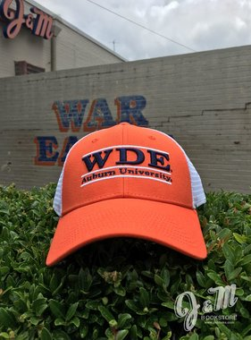 The Game WDE Three Bar Mesh Hat, Orange / White