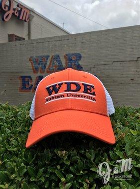 The Game WDE Three Bar Mesh Hat, Orange / White