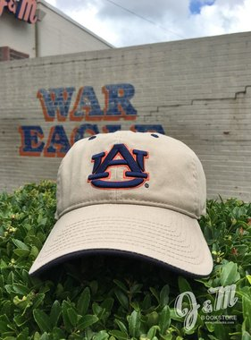 The Game Classic AU Khaki Hat with Navy Trim