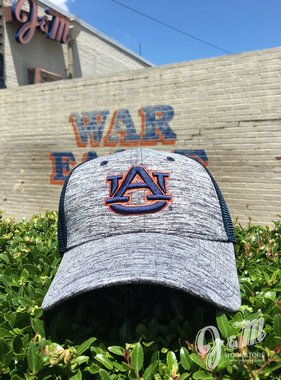 The Game AU Navy Heather Front Mesh Back Fitted Hat