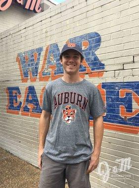 League Arch Auburn Vintage Aubie Triblend T-Shirt