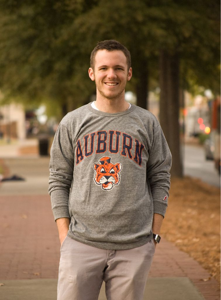 League Vintage Aubie Head Arch Long Sleeve T-Shirt