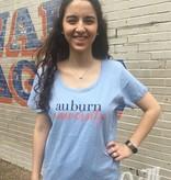 MV Sport Auburn University Script Font Scoopneck T-Shirt