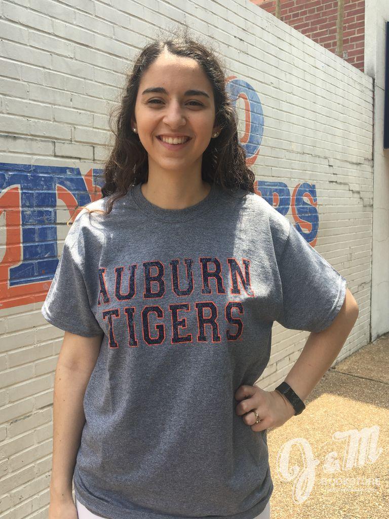 MV Sport Auburn Tigers Vintage Print Classic T-Shirt