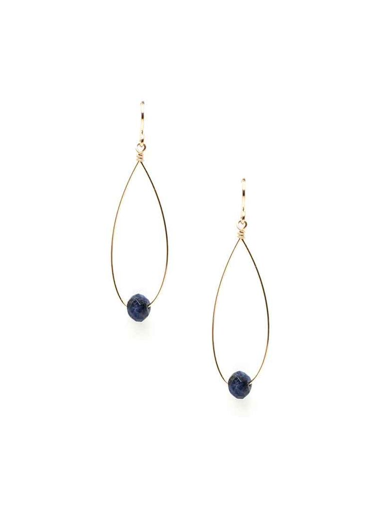 Emma Jane Designs, LLC Navy Bead Earrings