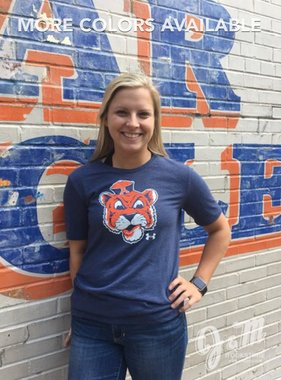 Under Armour S16 Ladies Vintage Aubie Head Triblend T-Shirt