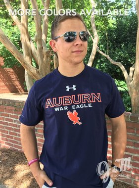 Under Armour Auburn War Eagle Flying Eagle Charged Cotton T-Shirt