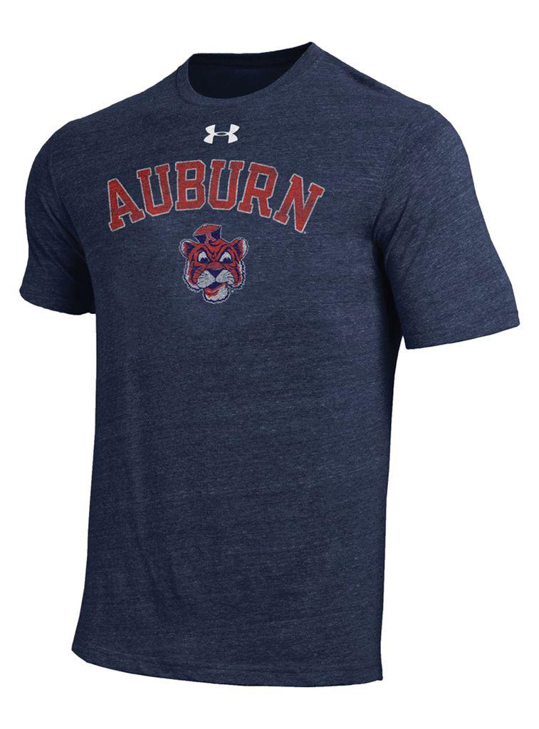 Under Armour Arch Auburn Vintage Aubie Head Legacy Triblend T-Shirt