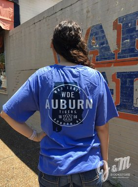 Gear WDE Auburn State Outline T-Shirt