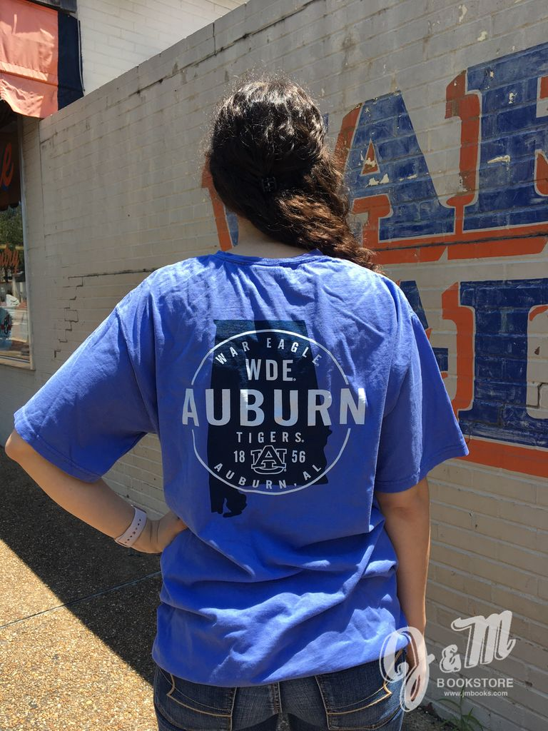 Gear WDE Auburn State Outline T-Shirt
