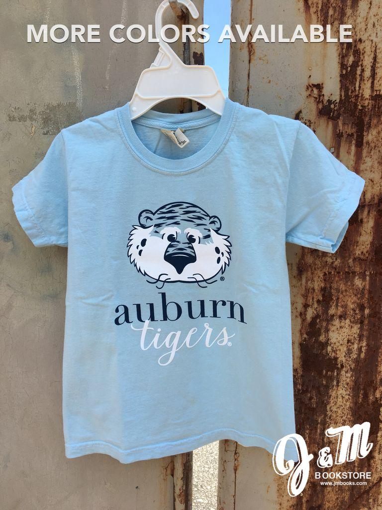 MV Sport Aubie Auburn Sript Tigers Youth T-Shirt