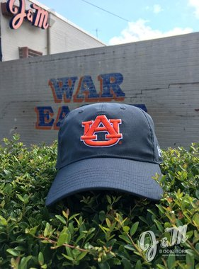Under Armour UA Free Fit Stealth Grey AU Hat - Breathable Material - Arch Auburn on Back