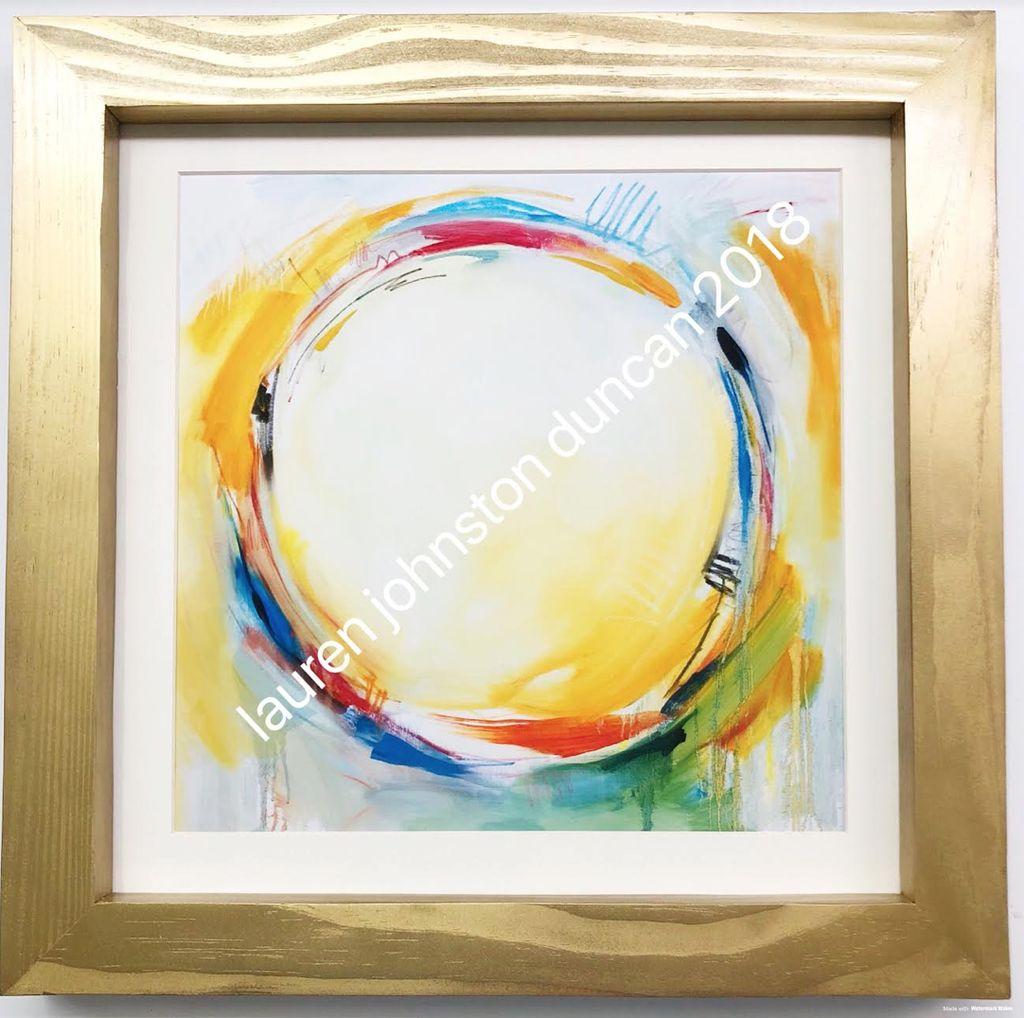 10 by 10 inch Circle No.1 Print
