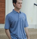 Divots Washed Denim and White Stripe Polo with Navy AU
