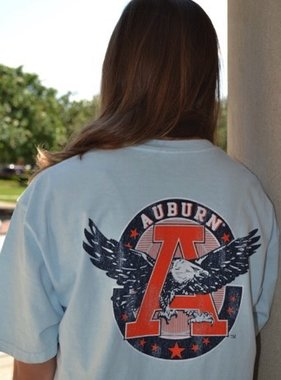 Retro Brand Vintage Eagle Through A Circle T-Shirt W/ AU Pocket