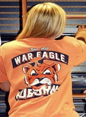 Retro Brand Since 1856 Vintage Aubie Head War Eagle Pocket T-Shirt
