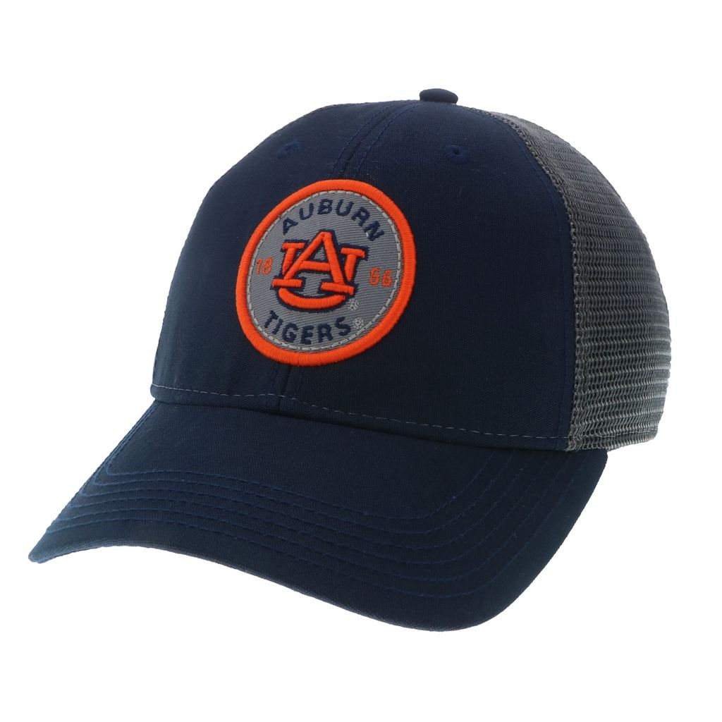 Auburn Tigers 1856 Classic Navy Hat with Grey Mesh