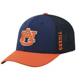 AU One Fit Two Tone Navy and Orange Fitted Hat