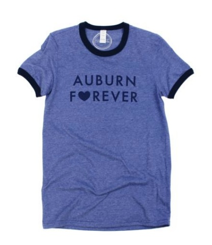 Kickoff Couture Auburn Forever Ringer Tee