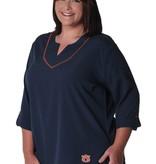 AU Stitched Neckline Tunic