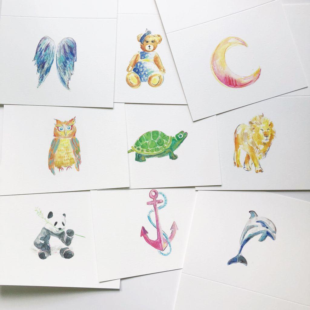 Animal and Symbol Individual Cards