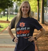 Retro Brand I believe in Auburn and Love It Creed T-Shirt