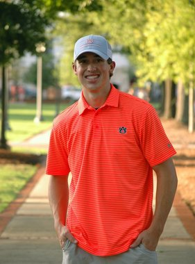 Under Armour AU Neon Orange Playoff Stripe Polo