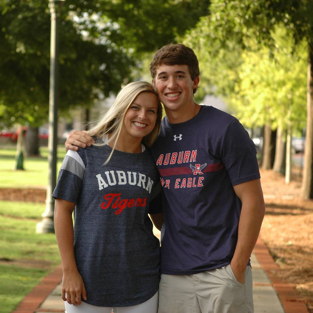 Under Armour Auburn Stripes Eagle Through A War Eagle Charged Cotton T-Shirt