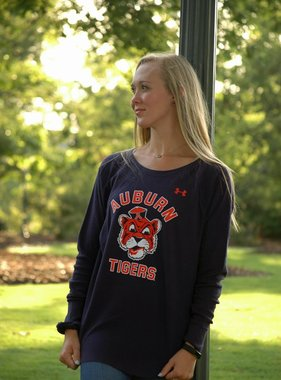 Under Armour Auburn Tigers Vintage Aubie Womens Waffle Crew